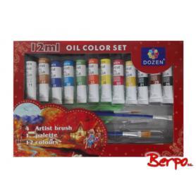 Vistar 918505 Farby olejne 12+Pędzle