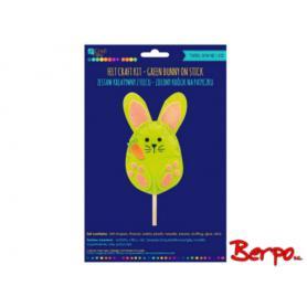 Craft Zielony królik na patyczku 970937