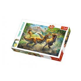Trefl 15360 Puzzle Walczące Tyranozaury