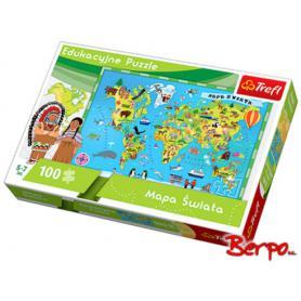 Trefl Puzzle Mapa Świata 15502
