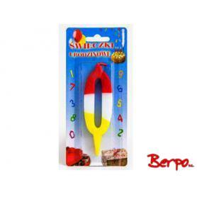 Baterpol kolorowe świeczki urodzinowe 024952