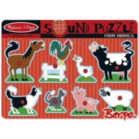 Melissa & Doug 10726 Puzzle Grające zwierzęta