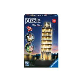 Ravensburger 125159 Puzzle 3D Krzywa wieża