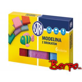 ASTRA modelina 6 kolorów z brokatem 304109001