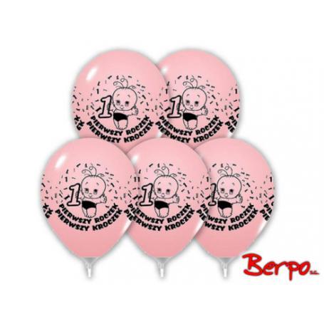 Bal balony urodzinowe roczek różowe 403098