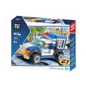BLOCKI KB0657 MyPolice Transporter policyjny 2w1