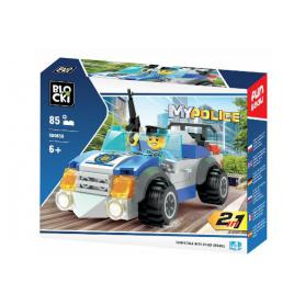BLOCKI KB0658 MyPolice Samochód policji 2w1