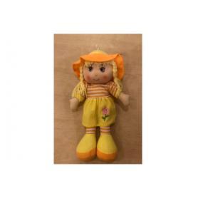 ICOM Lalka szmaciana żółta z czapką 214838