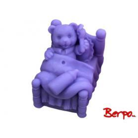 LaQ Mydełko Miś w łóżku - fioletowy 832058