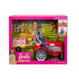 MATTEL FRM18 Barbie Farmerka na traktorze