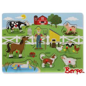 Melissa & Doug 10738 Puzzle Grający Farma