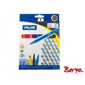 Milan Flamastry 12 szt. trójkątne 06121212