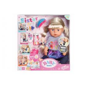 BABY BORN 824603 Lalka interaktywna Siostrzyczka