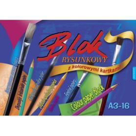 Kreska blok rysunkowy kolorowy A4 400966