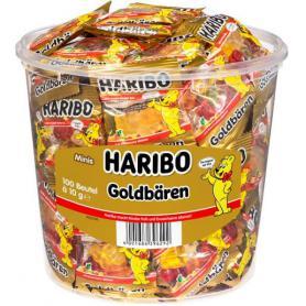 Haribo mini żelki złote misie 1kg 100 sztuk 301180
