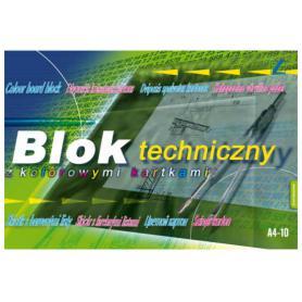 Kreska blok techniczny kolorowe kartki 000036