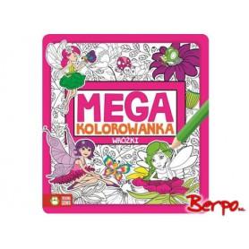 Zielona Sowa Mega kolorowanka Wróżki 730786