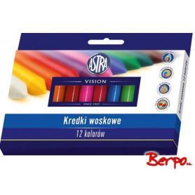 ASTRA Kredki woskowe 12 kolorów 316111001