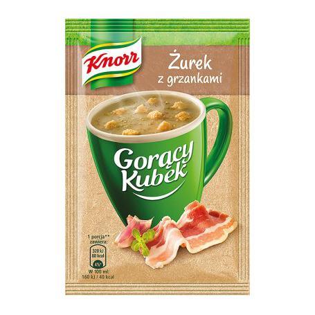 Knorr 866937 Gorący Kubek Żurek z grzankami 17g
