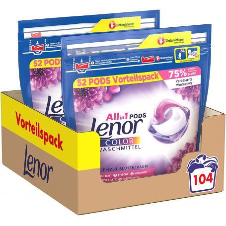 Lenor 725963 Kapsułki do prania 2 x 52szt 2610,4g