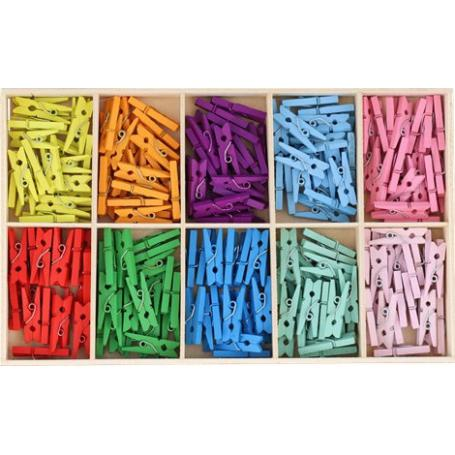 Via Chasse 005015 Minispinacze drewniane 200 sztuk