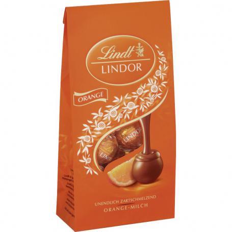 LINDT 126000 Lindor Pralinki pomarańczowe 137g