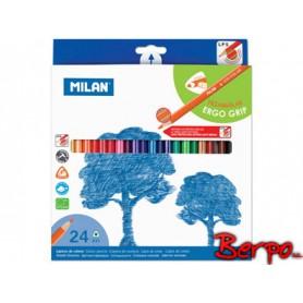 Milan kredki 24kol trójkątne 023814