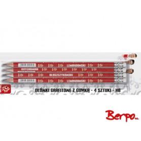 ASTRA Ołówki grafitowe z gumką 092522