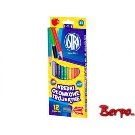 ASTRA kredki ołówkowe trój. 12 kolorów 312110002
