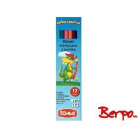 TOMA ołówek stic z gumką elastyczny 002839