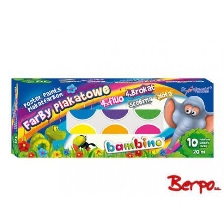 Majewski 001956 Farby Bambino 10 kolorów