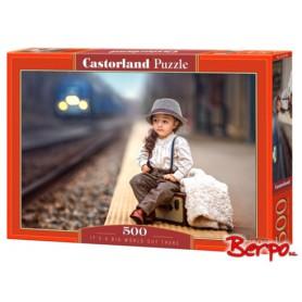 Castorland Dziewczynka z bagażami 052295