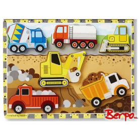 Melissa & Doug 13726 Puzzle pojazdy budowlane