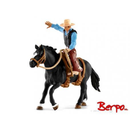 Schleich 41416 Kowboj siodłający dzikiego konia
