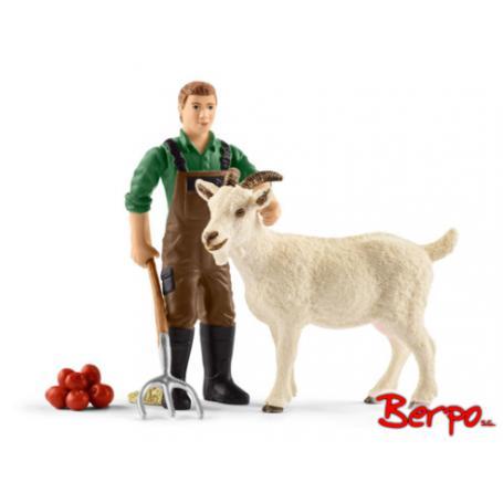 Schleich 42375 Rolnik z kozą